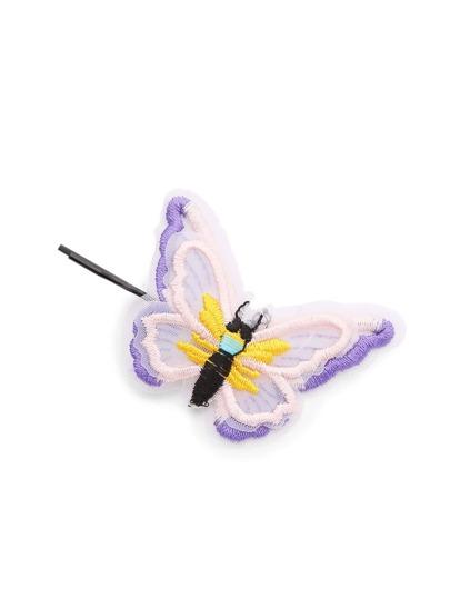 Fermaglio per capelli con abbellito a forma di farfalla