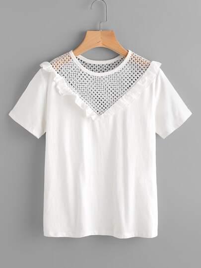 Tee-shirt découpé avec des plis