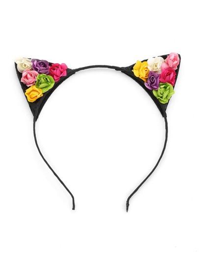 Bandeau fleur embellie en forme d'oreille mignonne