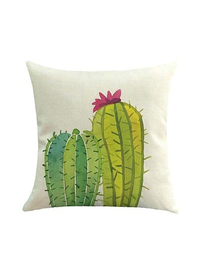 Taie de coussin imprimé des cactus et de l'animation