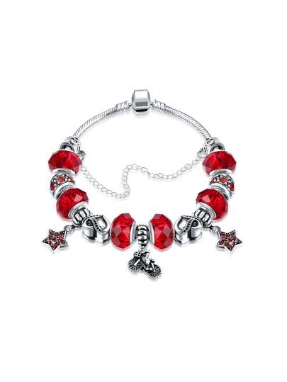 Star And Heart Detail Chain Bracelet