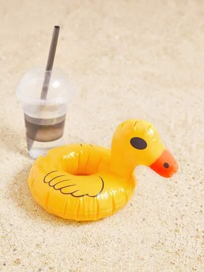 Bateau à boisson gonflable en forme du canard