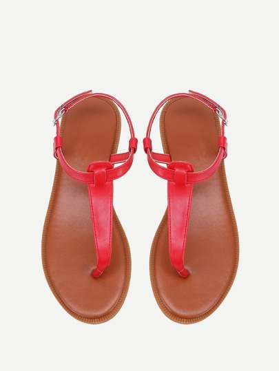 Toe Post PU Flat Sandals