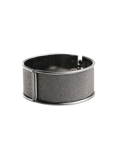 Metallic Trim Wide Bangle