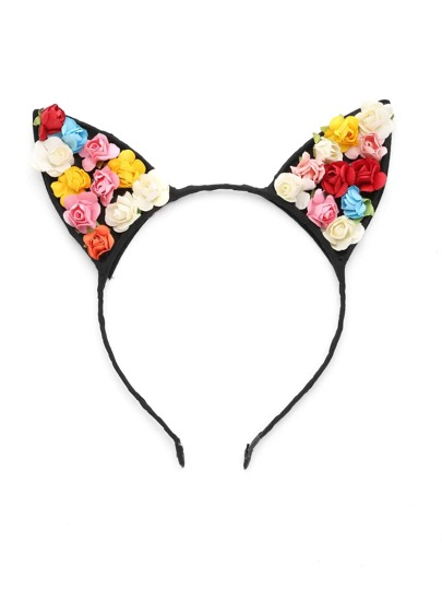 Flower Embellished Cute Ear Headband