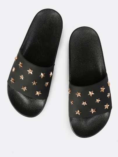 Starry One Band Slide BLACK