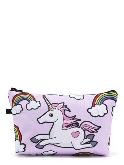 Horse Print Cosmetic Bag