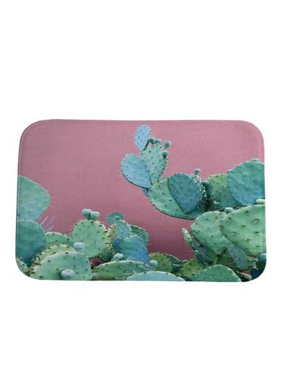 Tappeto con stampa di cactus