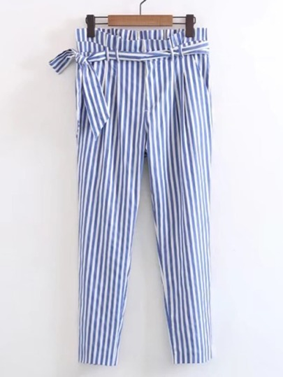 Self Tie Pleated Peg Pants