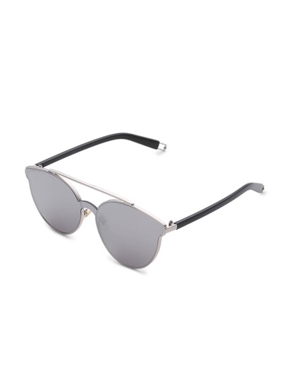 Flat Lens Top Bar Sunglasses