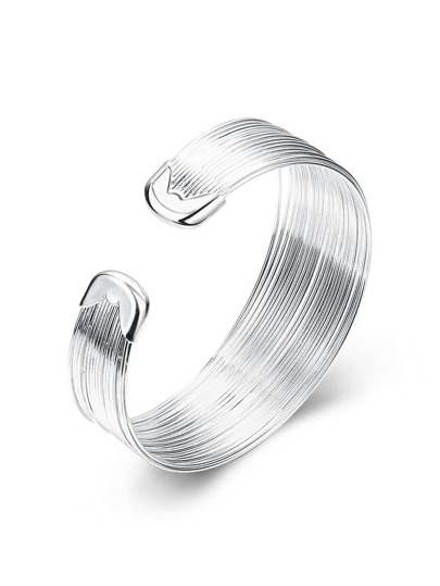 Sliver Plated Wrap Bangle