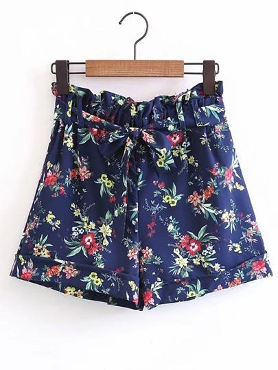 Shorts mit Schleife und Blumen