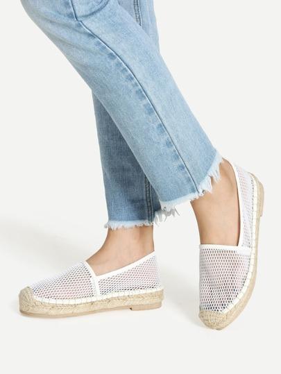Chaussures plates couverture orteil avec mailles