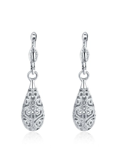 Hollow Water Drop Shaped Earrings