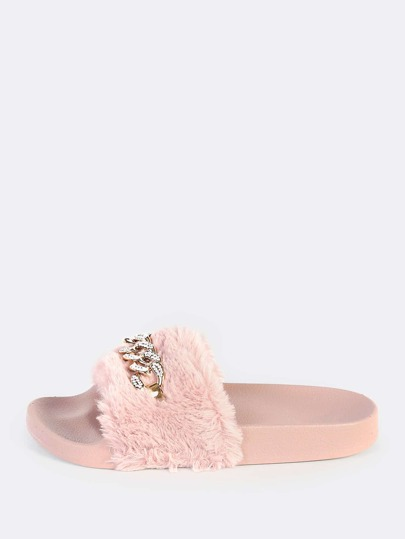 Fuzzy Fur Link Slides MAUVE