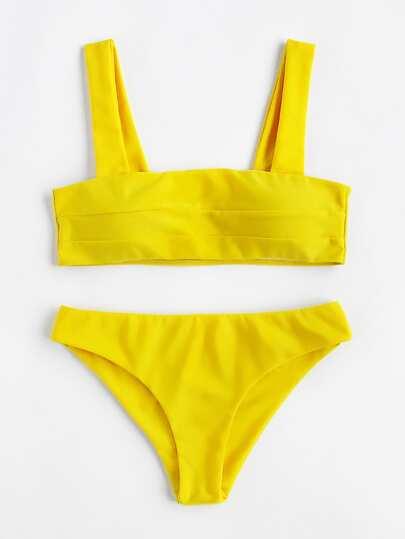 Ensemble de Bikini avec jambe haut avec lacet gros