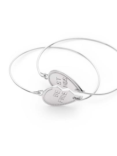 Heart Shaped Friendship Bracelet Set