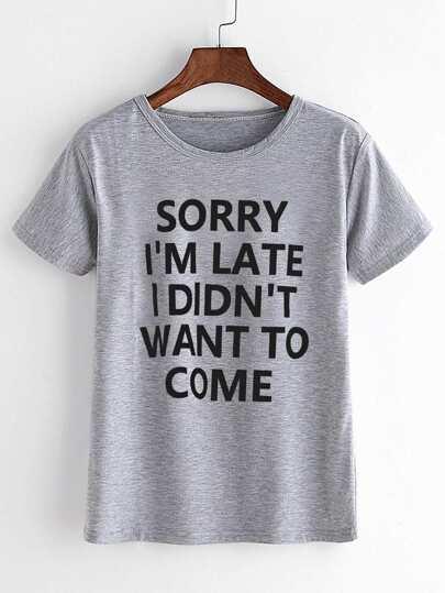 T-shirt mit Sloganmuster