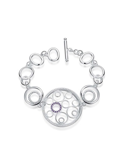 Hollow Out Circle Link Bracelet