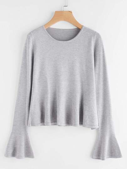 Pull-over manche papillon