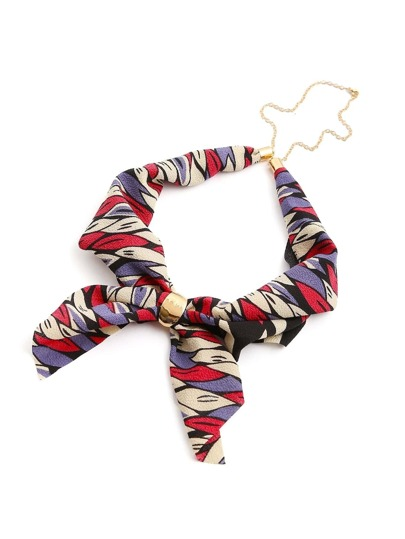Mixed Print Chain Linked Neckerchief