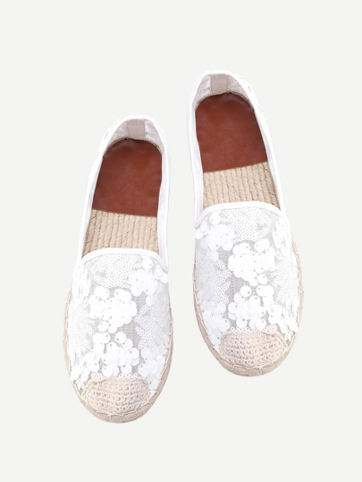 Espadrille in pizzo