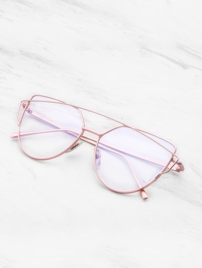 Top Bar Flat Lens Glasses