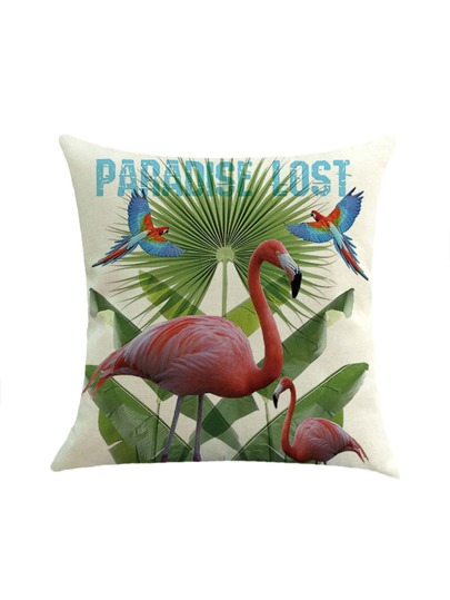 Flamingo Print Pillowcase Cover