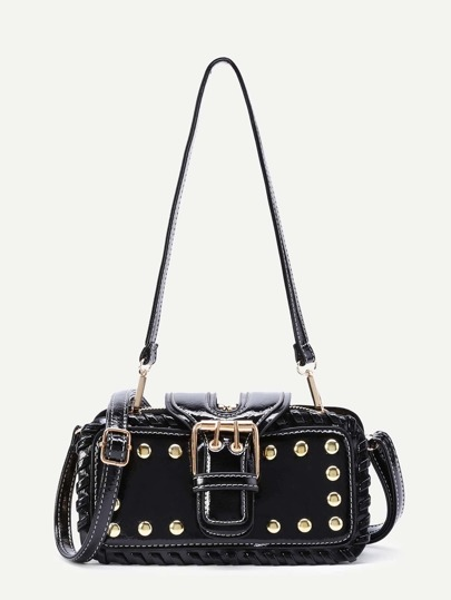 Studded Design PU Bag With Convertible Strap