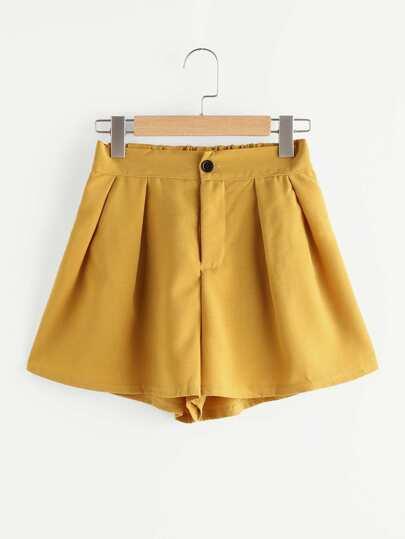 Shorts élastique avec des plis