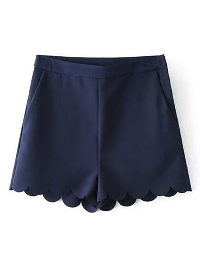 Wave Hem Loose Shorts