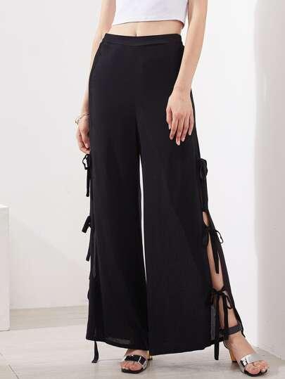 Pantalones con abertura en la parte lateral