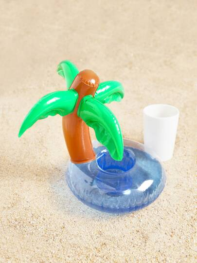 Porte-boissons gonflable tropical
