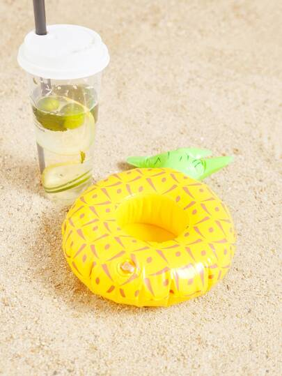 Pineapple Shaped Inflatable Beverage Holder