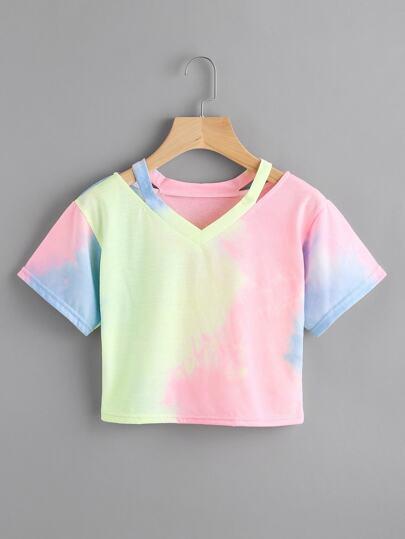Camiseta con abertura
