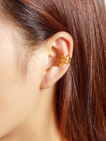 1 pieza de brazalete de oreja en forma de rana