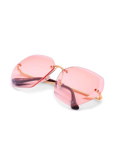 Gafas de sol oversize sin montura