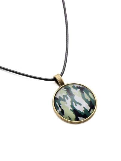 Collier rond camouflage