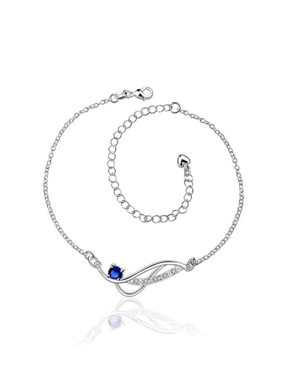 Rhinestone Decorated Chain Anklet