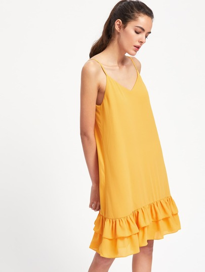 Layered Hem Cami Dress