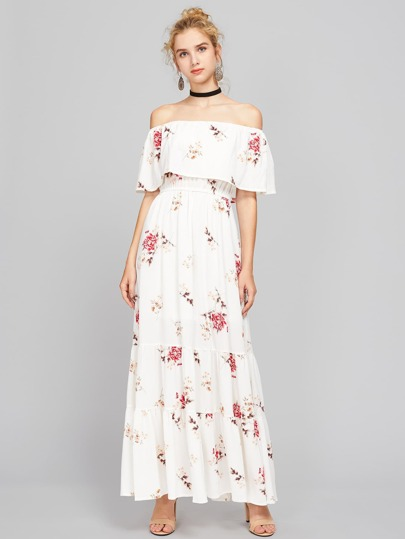 Bardot Floral Print Maxi Dress