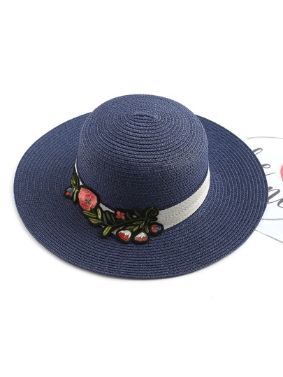 Flower Patch Straw Beach Hat