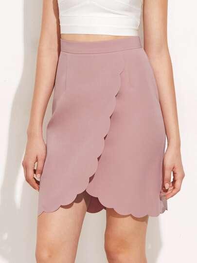 Scallop Edge Overlap Skirt