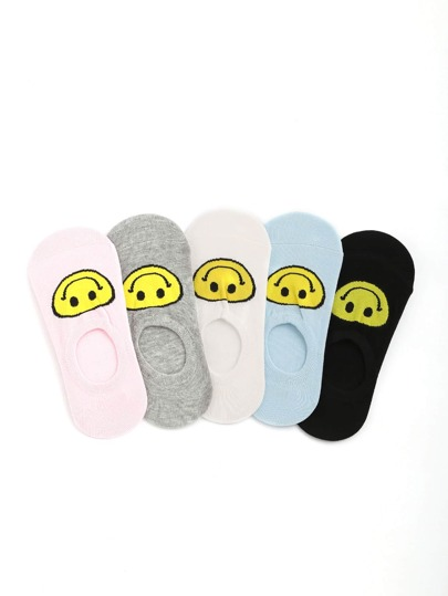Emoji Pattern Cute Invisible Socks