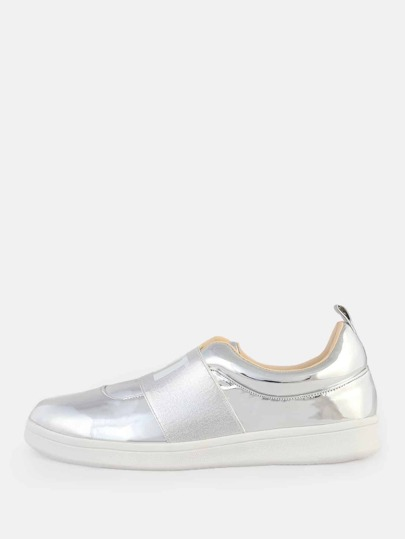 Metallic Why Not Sneakers SILVER