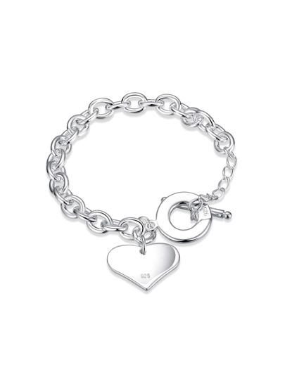 Metal Heart Detail Chain Bracelet