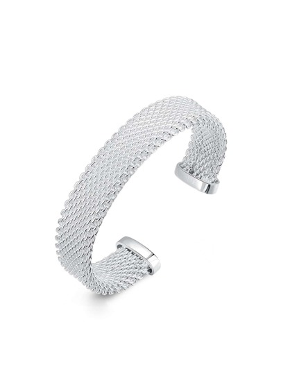 Metal Mesh Design Wrap Bangle