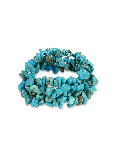 Модный браслет из бирюзы