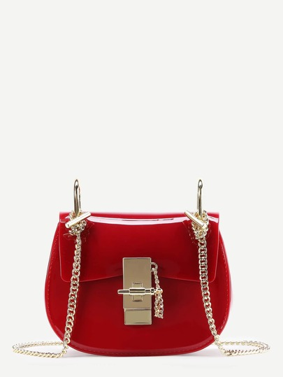 Plain PVC Chain Saddle Bag