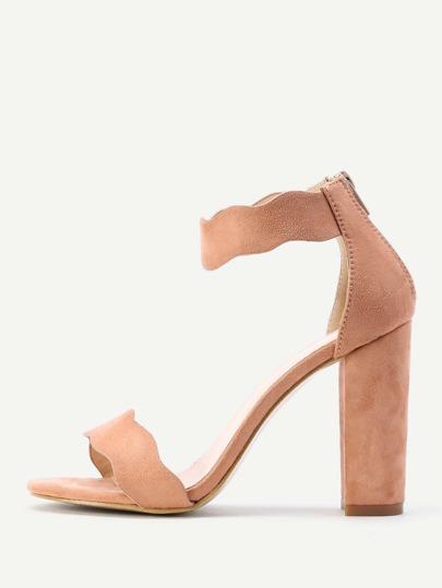 Sandales à talons hauts avec le zip et la bride de cheville
